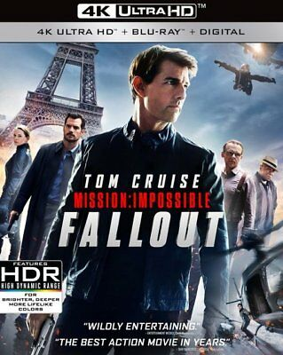 Mission: Impossible Fallout w/Slipcover (4K Ultra HD, Blu-ray, 2018) Tom Cruise