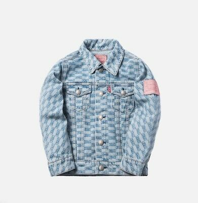 be7ae0c9 KITH KIDS X Levi Trucker (blue denim) Jacket Size 2 - $179.00 | PicClick