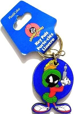 Nwt 1999 Marvin The Martian Looney Toons Signed Keyring~Zipper Pull~Chain