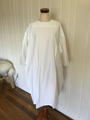 Vintage 1968 US Military Hospital Patient Gown Spa Painting Cover Up Robe COTTON