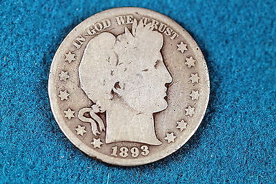 Estate Find 1893-S Barber Half Dollar!! #c1594