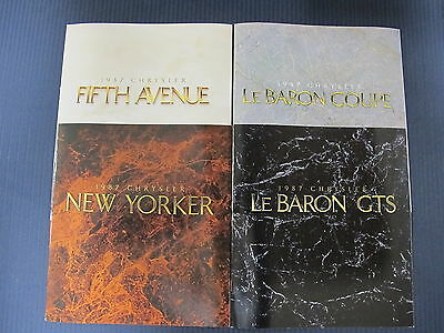 1987 Chrysler LeBaron Coupe GTS New Yorker Fifth Avenue Lot Dealer Sale Brochure