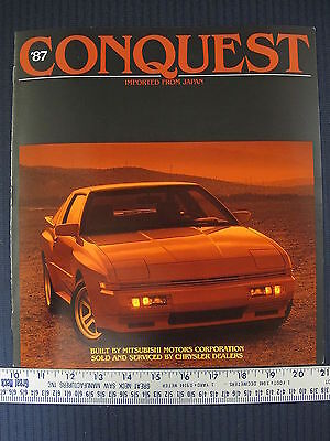 Original 1987 87 Chrysler CONQUEST TURBOCHARGED Dealer Sales Brochure