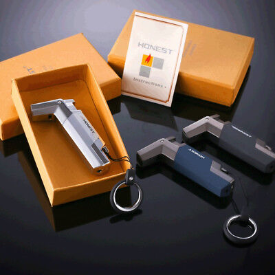 Windproof Stainless steel Butane Jet 1300 Turbo Torch Lighter Key Ring