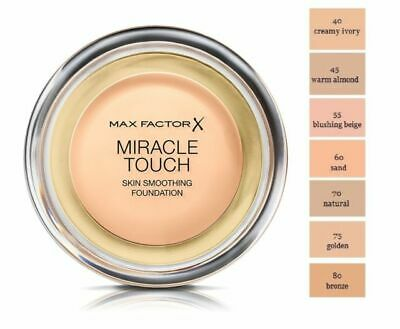 MAX FACTOR Miracle Touch Skin Perfecting Foundation 11.5g SPF30- various shades