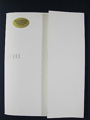 Original 1993 93 Chrysler Concorde Premier Deluxe Dealer Sales Brochure 37 pages