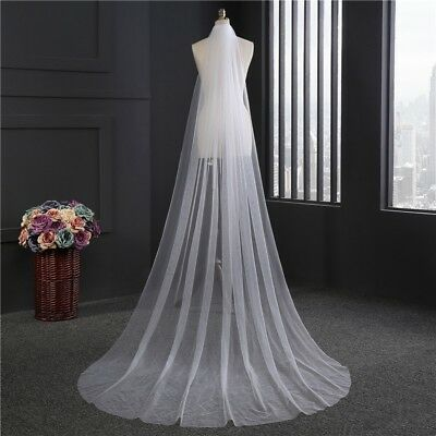 Beautiful Tulle Lace Bridal Veil Fashion Long Mantilla Bride Wedding Accessory