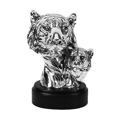 Figurine Modern Silver and Gold Tiger Sculpture Ornament.New /& Boxed.