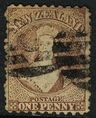 SG 126 NEW ZEALAND 1871 - 1d BROWN - USED