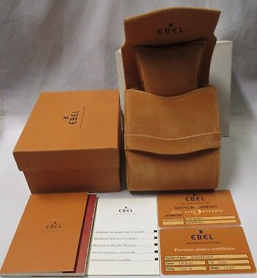 EBEL Beluga Watch Instructions & Service Books Open Blank 5 Year Card Pouch Box+