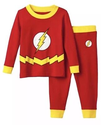 DC Comics $32 The Flash 2 Piece Pajama Set 6 Boys Pjs Justice League Christmas