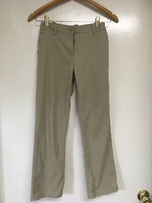 Austin Trading Co Girls School Uniform Pants Khaki  Size 12 adjustable waist