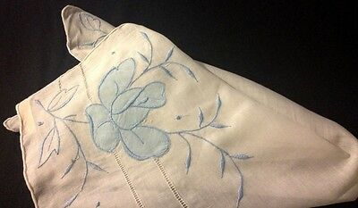 50's NWT Lady Heritage Made in Hong Kong Bridal Handkerchief Applique Work