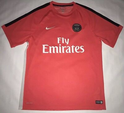 10de59bae Paris Saint-Germain Fly Emirates Pink Nike Dri-Fit Soccer Futbol Jersey  Mens XL