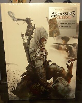 Assassins Creed III 3 Official Guide Collectors Edition - NEW, SEALED, HARDCOVER