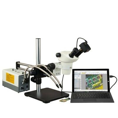 3X-300X Stereo Microscope+Cold Light+14MP USB Camera+2X/0.5X Auxiliary Lenses