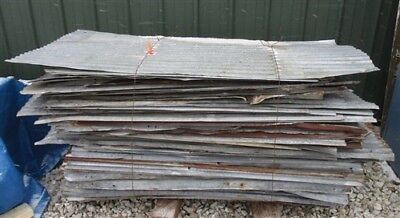 90 Sheets Barn Tin Corrugated Rustic Architectural Salvage 4' Long 780 sq ft