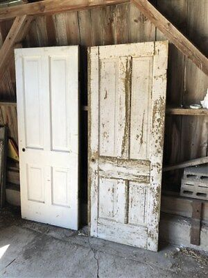 Set Of 10 Vintage Wood Doors Architectural Salvage Trim Paned Unpaned Panel a27