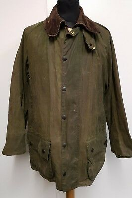 Y333 Mens Barbour Beaufort A150 Green Wax Country Jacket M 40 C40 102Cm