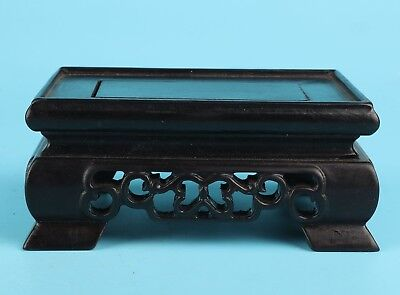 Vintage Chinese Wood Vases Display Base Brackets Stand Decorate Hand-Carved Gift