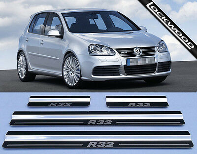 VW Golf R32 Mk5 (05 to 09) 4 Door Stainless Steel Sill Protectors / Kick Plates