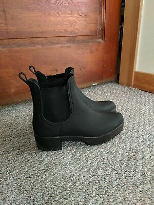 4625583dd0c Jeffrey Campbell Cloudy Chelsea Rain Boot Matte Black Womens 8 Chunky thick  sole