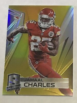 f257330ae 2014 Panini Spectra Jamaal Charles  126 Gold Prizm  25 SP Kansas City KC  Chiefs