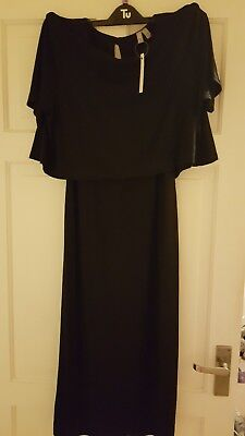 ASOS Maternity Nursing Double Layer Dress Size 16 Black BNWT
