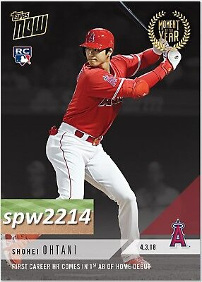 2018 Topps Now Moment of the Year Shohei Ohtani #MOY-1