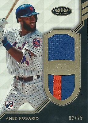 2018 Topps Tier One #T1DR-AR 02/25 Patch Amed Rosario New York Mets MLB