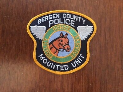 Defunct Bergen County New Jersey Police Mounted Unit