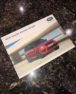 2018 New Range Rover Sport Sales Brochure - 89 Colored Pages