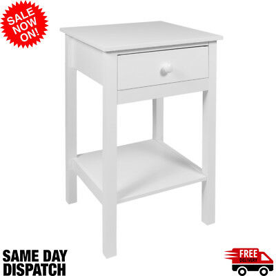 White Trend Bedside Cabinet side table 2019