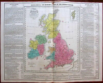 United Kingdom Celebrated Historical Battles c.1820 Carey Kneass hand color map