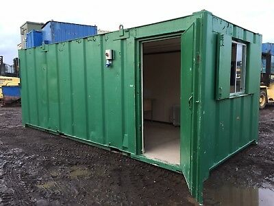 Site Office Cabin 20ft x 9ft Site Welfare Anti Vandal Steel Portable Building
