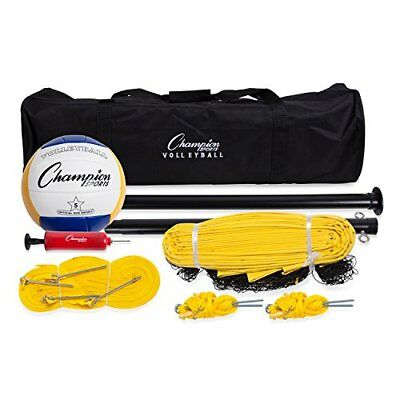 Champion Sports Outdoor Volleyball Set: Complete Portable Team Sports Set With