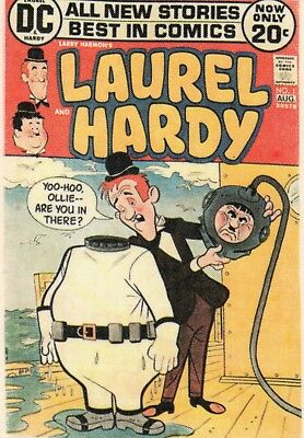 Laurel and Hardy Comic cover printed on linen - frameable