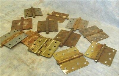12 Heavy Metal Hinges Door Architectural Hardware Mansion Reclamation Vintage a