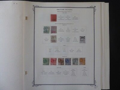 British Guiana 1932-1941 Stamp Collection on Scott Specialty Stamp Album Pages