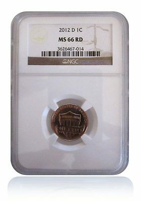 NGC MS66 RD Red 2012-D Lincoln Shield Cent Penny Gem Uncirculated Lincoln Image