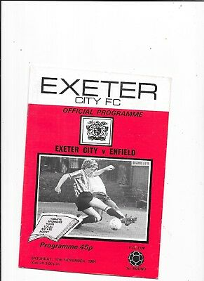 Exeter City v Enfield FA Cup 1st Round 17/11/1984