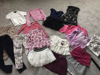 Girls Winter Clothes Bundle Age 6-7 Years M&S, Gap, H&M, Tu, 17 Items