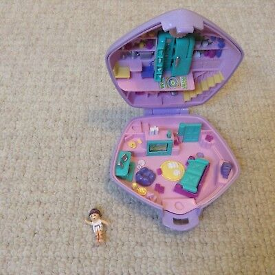 Vintage polly pocket toy compact star home  figure perfect Rare