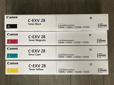 Canon C-EXV 28 Full Set (Black, Cyan, Yellow, Magenta) C5045 C5051 C5250 C5255