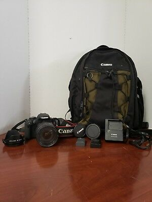 Canon EOS Rebel T3i With 28-135mm Lens And Carrying Backpack c-x