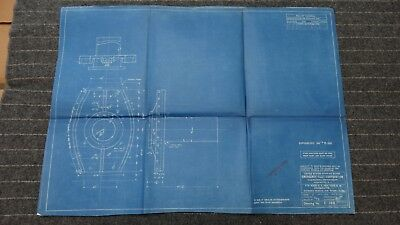 "(E385) Original 1917 Blueprint Drwg 20"" x 27"" - Outboard Sleeve for Stern Tube"