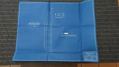 "(CR150) Original 1919 Blueprint Drawing 20"" x 26"" - Rudder Dimensions of Thickne"