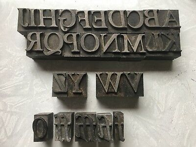 Vintage Metal Letter Blocks Letterpress