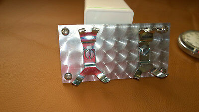 Dash Stopwatch Holder Twin panel, Historic Rally Engine turned pattern
