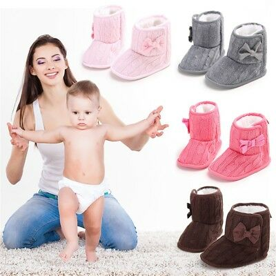 Cute Autumn Winter Warm Baby Boy Girls Shoes Soft Sole Toddler Infant Boots RW